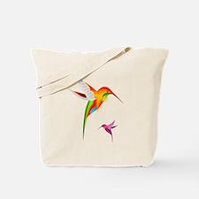 Colorful Hummingbirds Birds Tote Bag