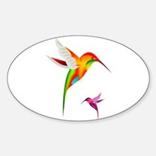 Colorful Hummingbirds Birds Decal