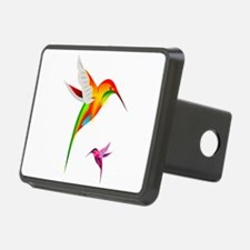 Colorful Hummingbirds Bird Hitch Cover