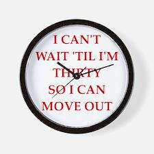 a funny joke Wall Clock