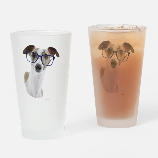 Cute Whippet Drinking Glass