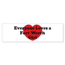 Fort Worth girl Bumper Bumper Sticker