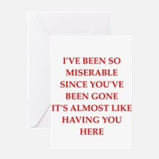 misery Greeting Cards