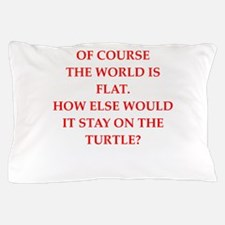 flat,earth,society Pillow Case