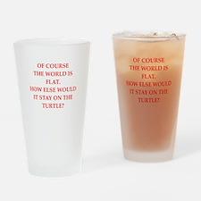flat,earth,society Drinking Glass