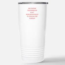 flat,earth,society Travel Mug