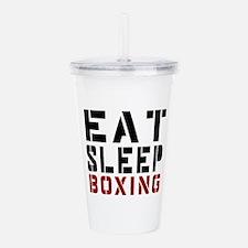 Eat Sleep Boxing Acrylic Double-wall Tumbler