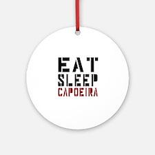 Eat Sleep Capoeira Round Ornament