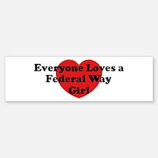 Federal Way girl Bumper Bumper Bumper Sticker