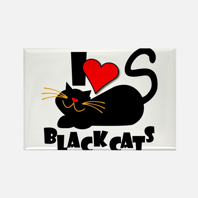 Cute Black cat Rectangle Magnet (10 pack)