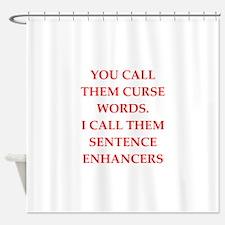 Swear Word Shower Curtains Swear Word Fabric Shower Curtain Liner - Shower curtain with words