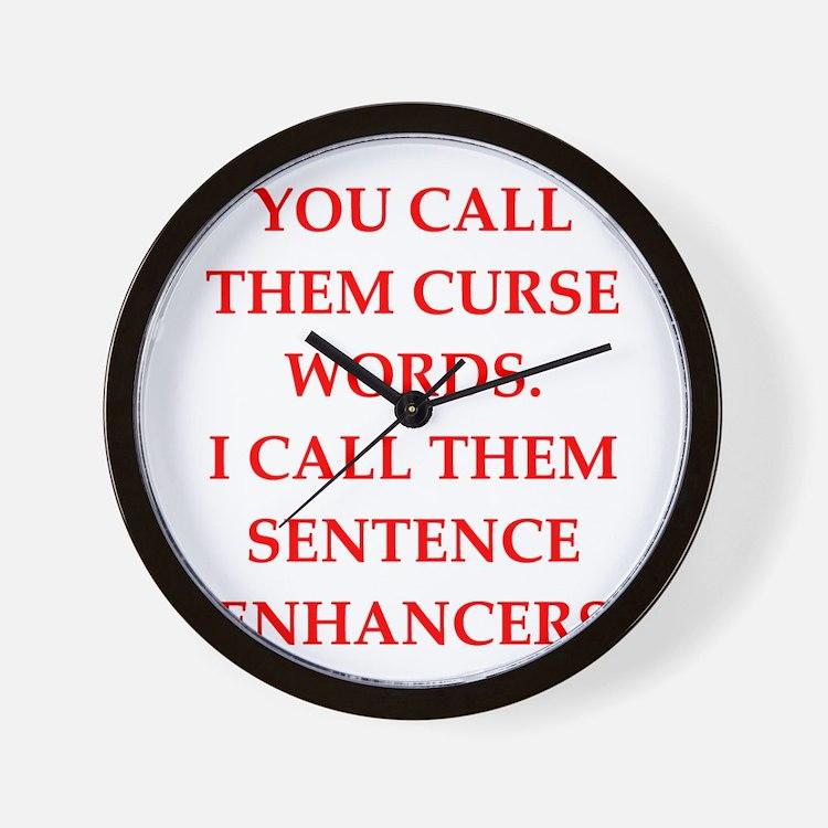 curse Wall Clock