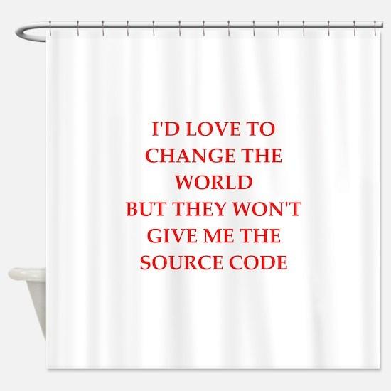 source Shower Curtain