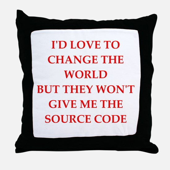 source Throw Pillow