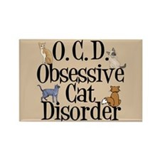 Funny Cat Rectangle Magnet (10 pack)