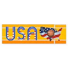 Hoops USA Bumper Sticker