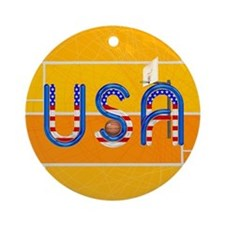 Hoops USA Round Ornament