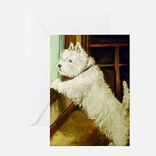 Waiting Westie Greeting Card