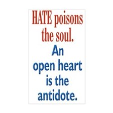 Hate Poisons the Soul Rectangle Decal