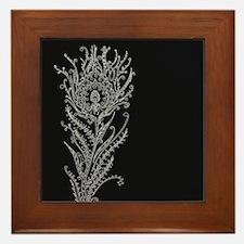 Elegant Feather Framed Tile