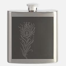 Elegant Feather Flask