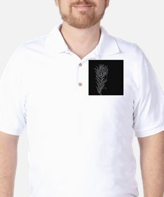Elegant Feather Golf Shirt