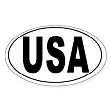 USA Country Oval Decal
