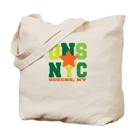 Queens, NY Green Tote Bag