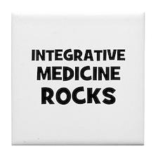 Integrative Medicine Rocks Tile Coaster