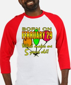 Leap Year Birthday 5 Years Old Baseball Jersey