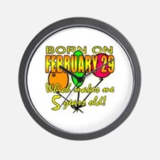 Leap Year Birthday 5 Years Old Wall Clock