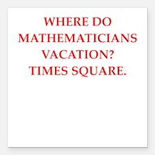 """mathematics Square Car Magnet 3"""" x 3"""""""