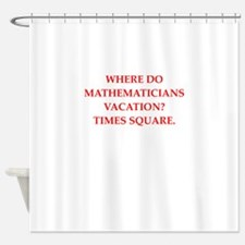 mathematics Shower Curtain