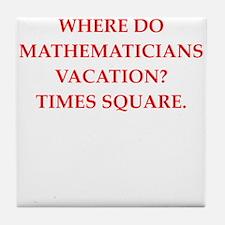 mathematics Tile Coaster