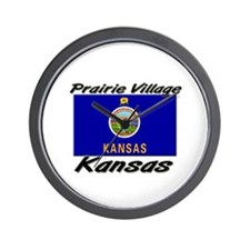 Prairie Village Kansas Wall Clock