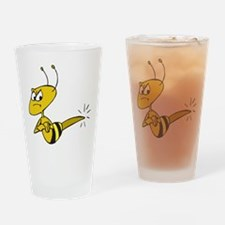 Funny Angry Bee Comics Drinking Glass