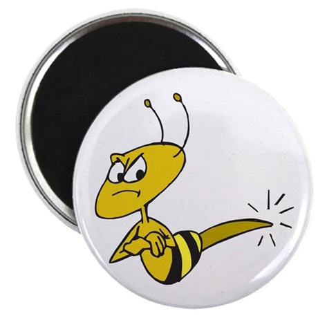 Funny Angry Bee Comics Magnets