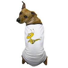 Funny Angry Bee Comics Dog T-Shirt