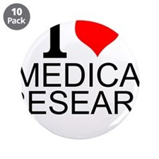 "I Love Medical Research 3.5"" Button (10 pack)"