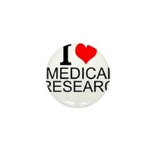I Love Medical Research Mini Button (10 pack)