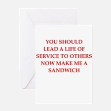 service Greeting Cards