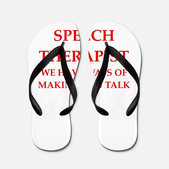 speech therapist Flip Flops