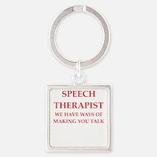 speech therapist Keychains