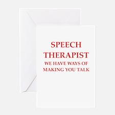 speech therapist Greeting Cards