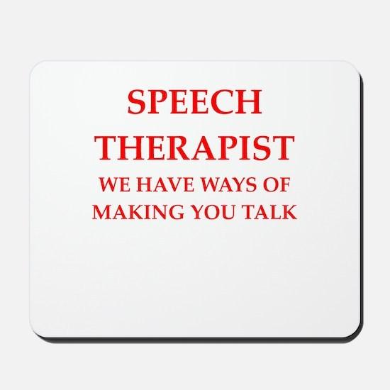 speech therapist Mousepad