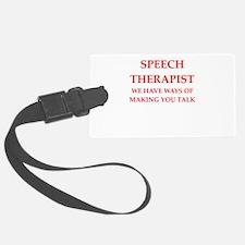 speech therapist Luggage Tag