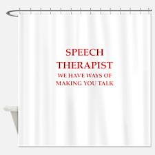 speech therapist Shower Curtain
