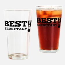 Best Secretary Ever Drinking Glass