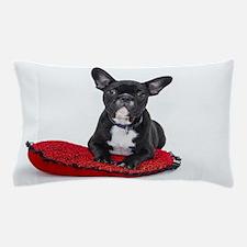 Cute Dog on Heart Cushion Pillow Case