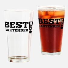 Best Bartender Ever Drinking Glass